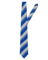 hellblaue vertikal gestreifte Krawatte von EAST CLUB LONDON