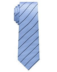 hellblaue vertikal gestreifte Krawatte von Eterna