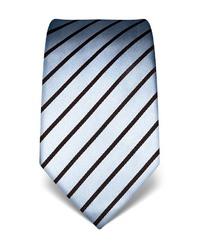 hellblaue vertikal gestreifte Krawatte von Vincenzo Boretti