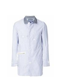 hellblaue vertikal gestreifte Shirtjacke