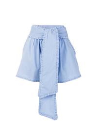 hellblaue vertikal gestreifte Shorts von MSGM
