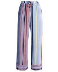 Hellblaue vertikal gestreifte Weite Hose von Karen by Simonsen