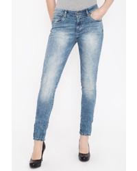 hellblaue verzierte Jeans von BLUE MONKEY