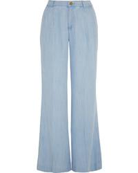 hellblaue weite Hose aus Jeans