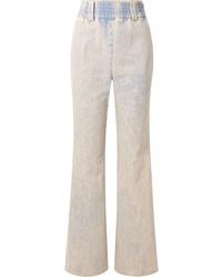 hellblaue weite Hose aus Jeans von Miu Miu