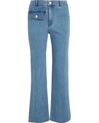 hellblaue weite Hose aus Jeans von See by Chloe