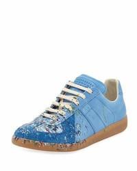 hellblaue Wildleder niedrige Sneakers