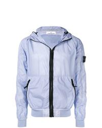 Modische hellblaue Jacke für Herren von Stone Island für