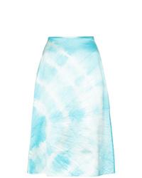 hellblauer Mit Batikmuster A-Linienrock von Ashley Williams