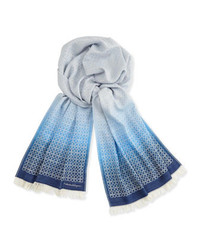 Hellblauer bedruckter Schal