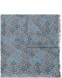 hellblauer bedruckter Schal von Hemisphere