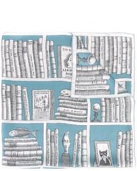 hellblauer bedruckter Seideschal von Olympia Le-Tan