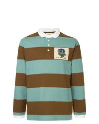 hellblauer horizontal gestreifter Polo Pullover von Kent & Curwen