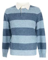 hellblauer horizontal gestreifter Polo Pullover von Polo Ralph Lauren