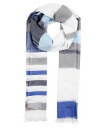 hellblauer horizontal gestreifter Schal von Hugo Boss