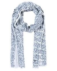 hellblauer horizontal gestreifter Schal von Marc O'Polo