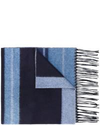 hellblauer horizontal gestreifter Schal von Salvatore Ferragamo