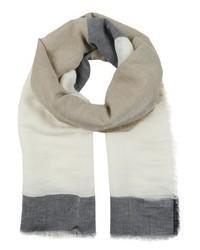 hellblauer horizontal gestreifter Schal von Sisley