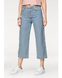 hellblauer Hosenrock aus Jeans von Wrangler