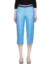 hellblauer Hosenrock aus Seide von Roksanda
