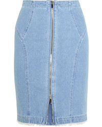 hellblauer Jeans Bleistiftrock