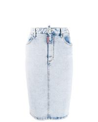 hellblauer Jeans Bleistiftrock von Dsquared2