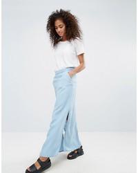 0d8c319879d771 Modische hellblauen Jeans Maxirock für Winter 2019 kaufen ...