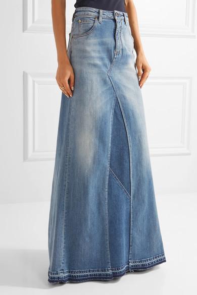 0922be363c4828 hellblauer Jeans Maxirock von Roberto Cavalli, €795 | NET-A-PORTER.COM |  Lookastic