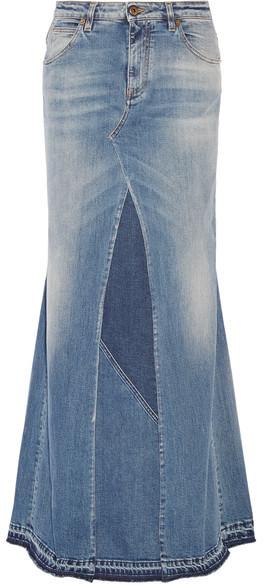 8922d66a34ba97 hellblauer Jeans Maxirock von Roberto Cavalli, €795 | NET-A-PORTER ...