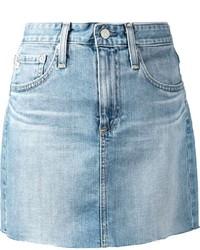 hellblauer Jeans Minirock von AG Jeans