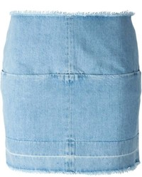 hellblauer Jeans Minirock von ARIES
