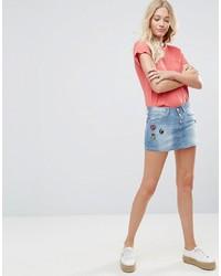 hellblauer Jeans Minirock von Blend She