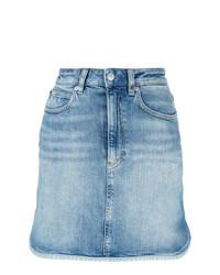 hellblauer Jeans Minirock von Calvin Klein Jeans