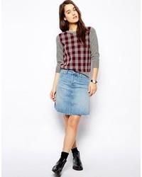 hellblauer Jeans Minirock von Jack Wills