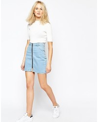 hellblauer Jeans Minirock