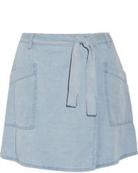 hellblauer Jeans Minirock von MM6 MAISON MARGIELA