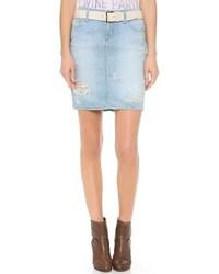 hellblauer Jeans Minirock von Paige
