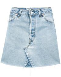 hellblauer Jeans Minirock von RE/DONE