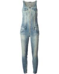 hellblauer Jumpsuit aus Jeans von Diesel