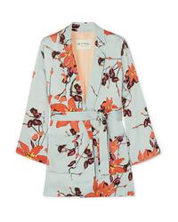 hellblauer Kimono mit Blumenmuster von Etro