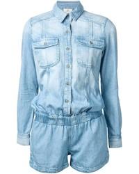 hellblauer kurzer Jumpsuit aus Jeans von AG Jeans