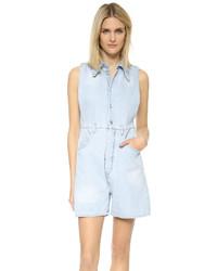hellblauer kurzer Jumpsuit aus Jeans von Maison Margiela