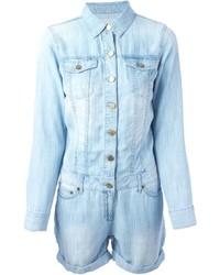 hellblauer kurzer Jumpsuit aus Jeans von MICHAEL Michael Kors