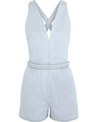 hellblauer kurzer Jumpsuit aus Jeans von Valentino