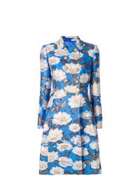 hellblauer Mantel mit Blumenmuster von Dolce & Gabbana