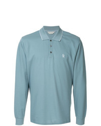 hellblauer Polo Pullover