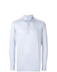 hellblauer Polo Pullover von Kiton