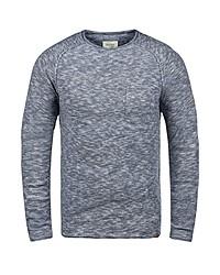 hellblauer Pullover mit einem Rundhalsausschnitt von BLEND