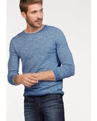 hellblauer Pullover mit einem Rundhalsausschnitt von BRUNO BANANI