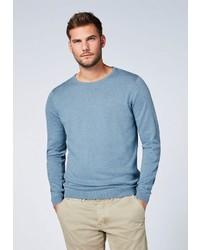 hellblauer Pullover mit einem Rundhalsausschnitt von Chiemsee